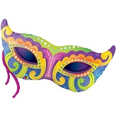 "38"" Mardi Gras Mask Balloon"