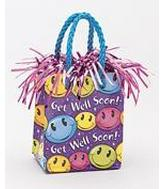 5.5OZ Smiley Get Well Balloon Bag Weight