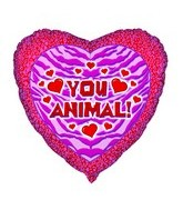 18'' You Animal Print Heart