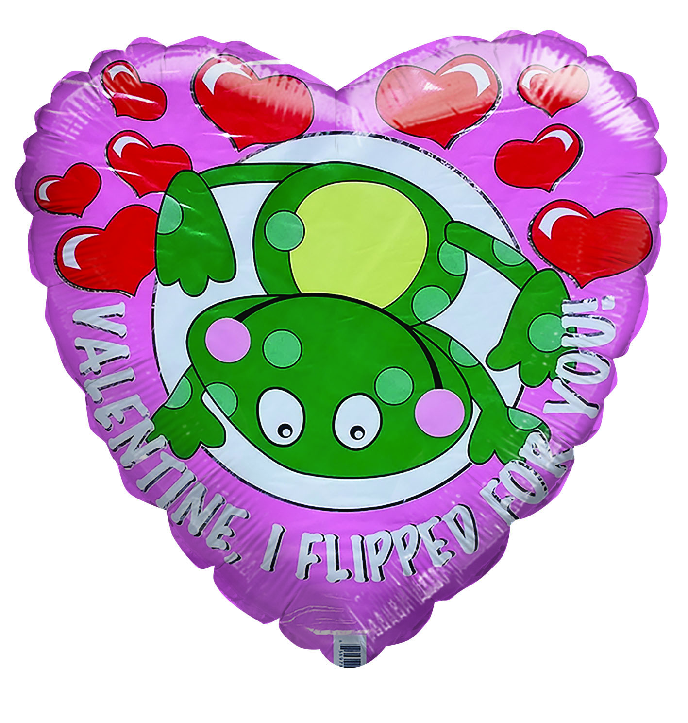 "18"" H.V.D Valentine I Flipped for You Heart Balloon"