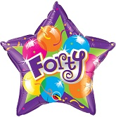 "20"" Sparkling Forty Mylar Balloon"