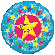 "18"" Your Super With Stars Balloon"