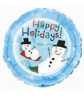 "18"" Happy Holidays Snowmen (B18)"