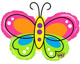 "28"" Beautiful Butterfly Balloon Mighty Bright"