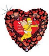 "18"" I'm With Cupid Simpsons Balloon"