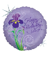 "18"" Iris Happy Birthday Balloon Holographic"