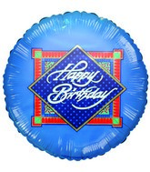 "9"" Airfill Only Swirls and Diamonds Happy Birthday Balloon"