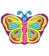 "18"" Rainbow Colorful Butterfly Balloon"