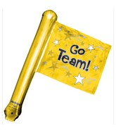 "25"" Airfill Only U-Inflate Go Team Gold Rally Flag"