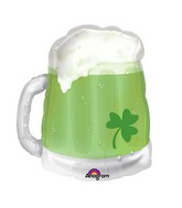 "23"" See-Thru SuperShape St. Patty's Green Beer Mug Balloon"