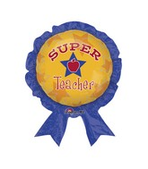 "30"" Super Teacher Balloon Award Ribbon"