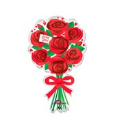 "30"" Love You Red Roses SuperShape"