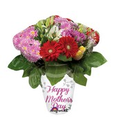 "27"" SuperShape Happy Mother's Day Flower Vase Balloon"