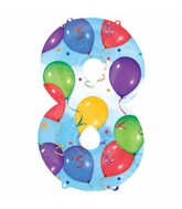 "33"" SuperShape 8 Balloons & Streamers Balloon Packaged"