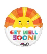 "28"" GWS Smiley Sunshine Jumbo Balloon"