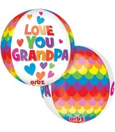 "16"" Orbz Grandpa Balloon Packaged"