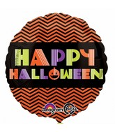 "18"" Neon Halloween Balloon Packaged"