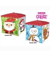 "15"" Cubez Holiday Characters Balloon Packaged"