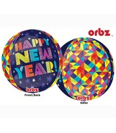 "16"" Orbz Geometric New Year Balloon Packaged"