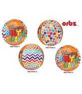 "16"" Orbz Multi-Film Happy Birthday Patterns Packaged"