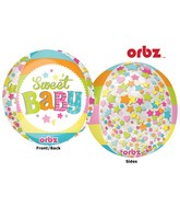 "16"" Orbz Multi-Film Sweet Baby Moon Balloon Packaged"