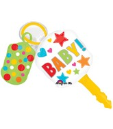 "38"" SuperShape Baby Keys Balloon Packaged"