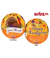 "16"" Orbz Give Thanks Balloon Packaged"