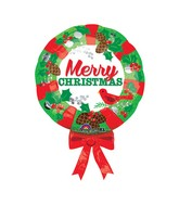 "28"" SuperShape Christmas Wreath Balloon"