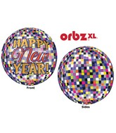 "16"" Orbz New Years Disco Ball Balloon Packaged"