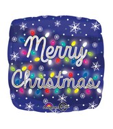 "18"" Merry Christmas Lights Balloon"