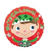 "18"" Merry Christmas Elf Balloon"