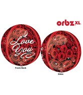 "16"" Orbz I Love You Roses Balloon Packaged"