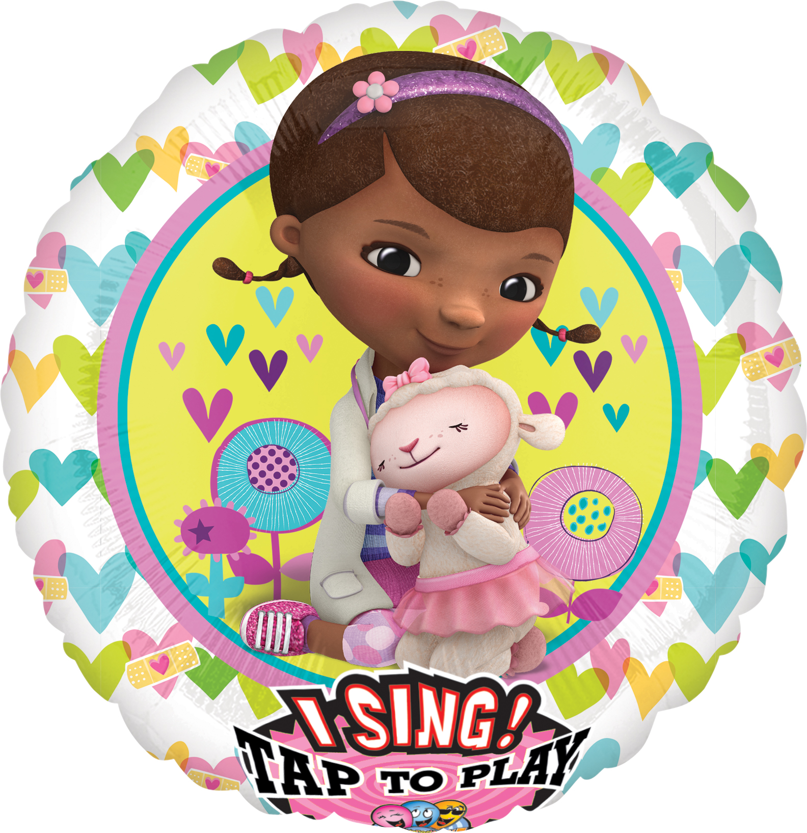 "28"" Singing Balloon Doc McStuffins Balloon Packaged"