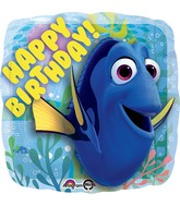 "18"" Finding Dory Happy Birthday Balloon Packaged"