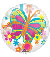 "24"" Balloon Spring Butterfly Balloon Packaged"