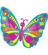 "26"" Happy Spring Butterfly Balloon"