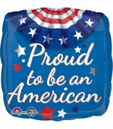 "18"" Proud to Be an American Bunting Balloon"