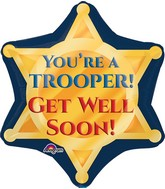 "21"" Trooper Badge Get Well Soon Balloon"
