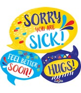 "26"" Jumbo Get Well Sentiments Balloon"