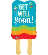 "26"" Jumbo Get Well Popsicle Balloon"