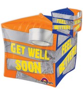 "15"" Jumbo Duct Tape Get Well Soon Balloon Packaged"