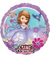 "28"" Singing Balloon Sofia the First Balloon Packaged"