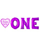 Fun to Be O-N-E Girl Balloon Packaged