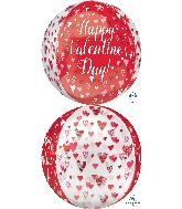 "16"" Playful Valentine Hearts Balloon Orbz"
