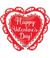 "23"" Happy Valentine's Day Doily Balloon"