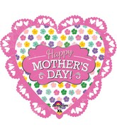 "23"" Intricates Jumbo Mother's Day Pink Balloon"