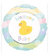"18"" Welcome Baby Ducky Balloon"