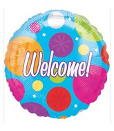 "18"" Colorful Welcome Mylar Balloon"