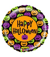 "21"" Mighty Bright Balloon Mighty Pumpkin Halloween"