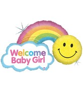 "45"" Holographic Shape Packaged Rainbow Baby Girl"